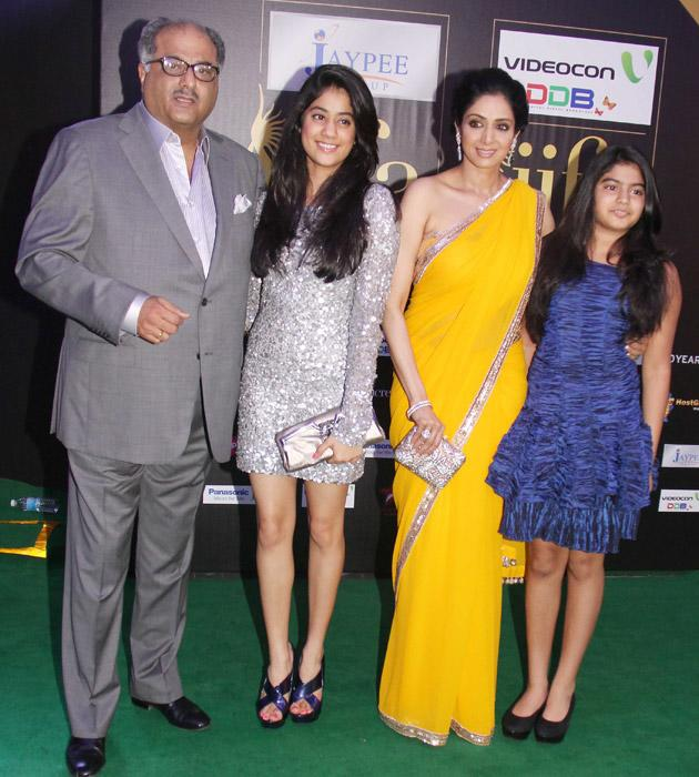 This is one for the  mantlepiece - Boney Kapoor and Sridevi with the kids