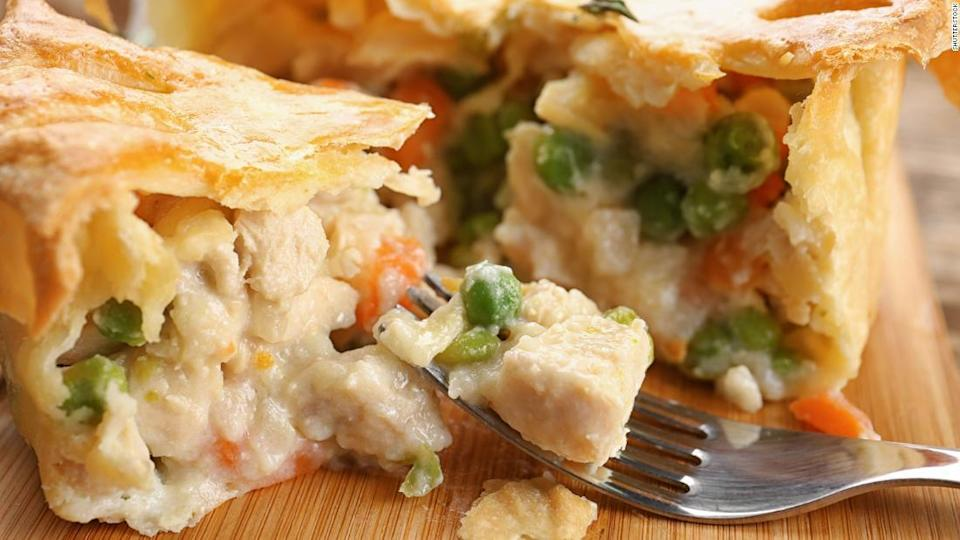 "<p>Who can say no to a pot pie? This version is chicken, but you can make yours vegetarian if you'd like.</p><div class=""cnn--image__credit""><em><small>Credit: Shutterstock / Shutterstock</small></em></div>"