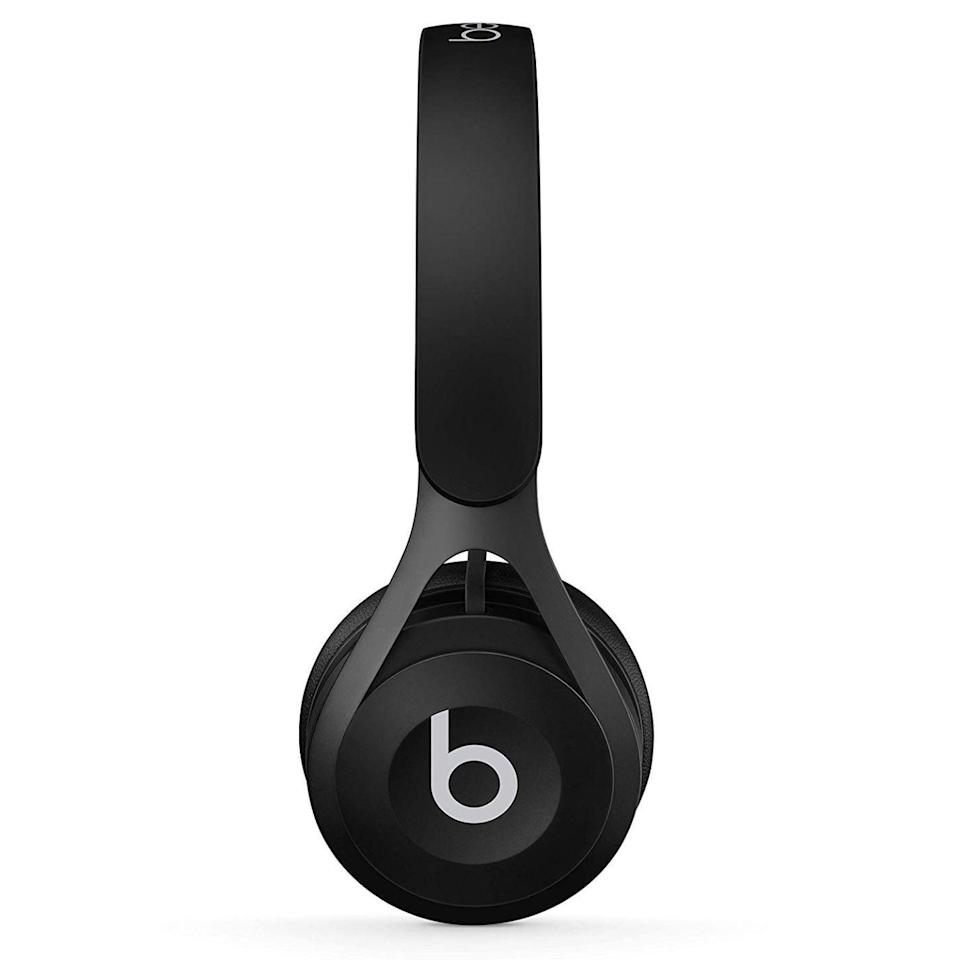 """<p><strong>Beats</strong></p><p>amazon.com</p><p><strong>$79.99</strong></p><p><a href=""""https://www.amazon.com/dp/B01LX8OJMT?tag=syn-yahoo-20&ascsubtag=%5Bartid%7C2089.g.285%5Bsrc%7Cyahoo-us"""" rel=""""nofollow noopener"""" target=""""_blank"""" data-ylk=""""slk:Shop Now"""" class=""""link rapid-noclick-resp"""">Shop Now</a></p><p>Believe it or not, you can even find a pair of cheap headphones from Beats for less than $100! The Beats EP wired on-ear headphones have a cool design and a comfortable fit. And, of course, they deliver the brand's signature sound at an amazing price point. </p><p>Lightweight and built solid, the Beats EP headphones have a three-button remote control and a standard audio jack. They're available in black, white, blue, and red.</p>"""