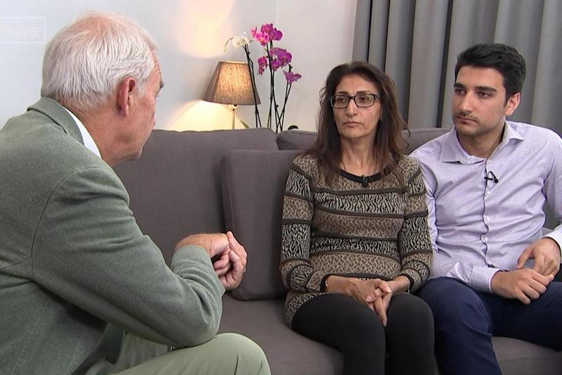 Escape: Farhad and Flora described their horrific ordeal on Channel 4 news (PA)