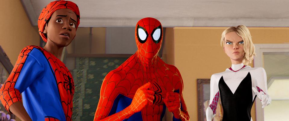 <i>Spider-Man: Into the Spider-Verse</i> featured a number of different incarnations of Marvel's webslinger. (Sony Pictures)
