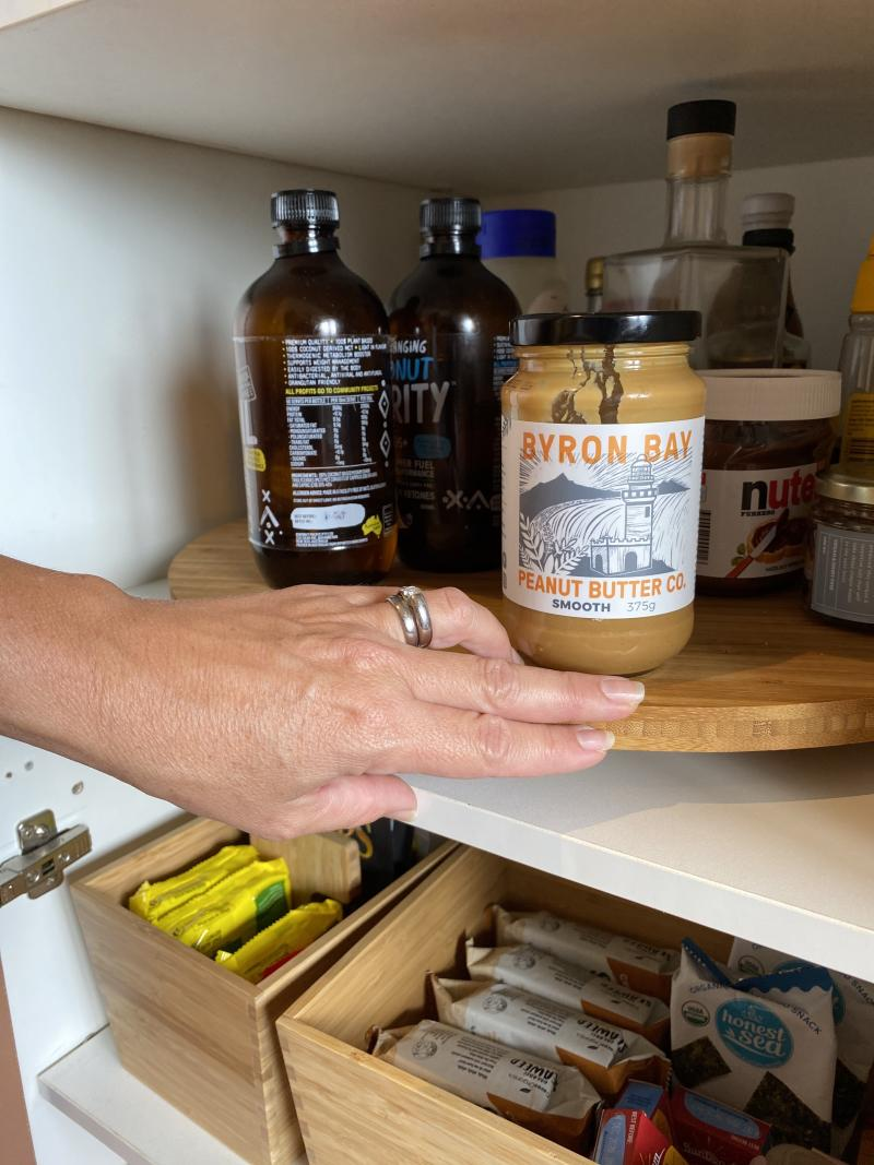 Shelley Craft's pantry in her Byron Bay home