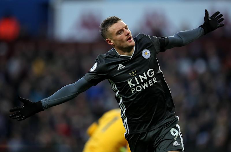 Jamie Vardy and Leicester City are back in the Premier League title hunt. (Photo by Zac Goodwin/EMPICS/PA Images via Getty Images)