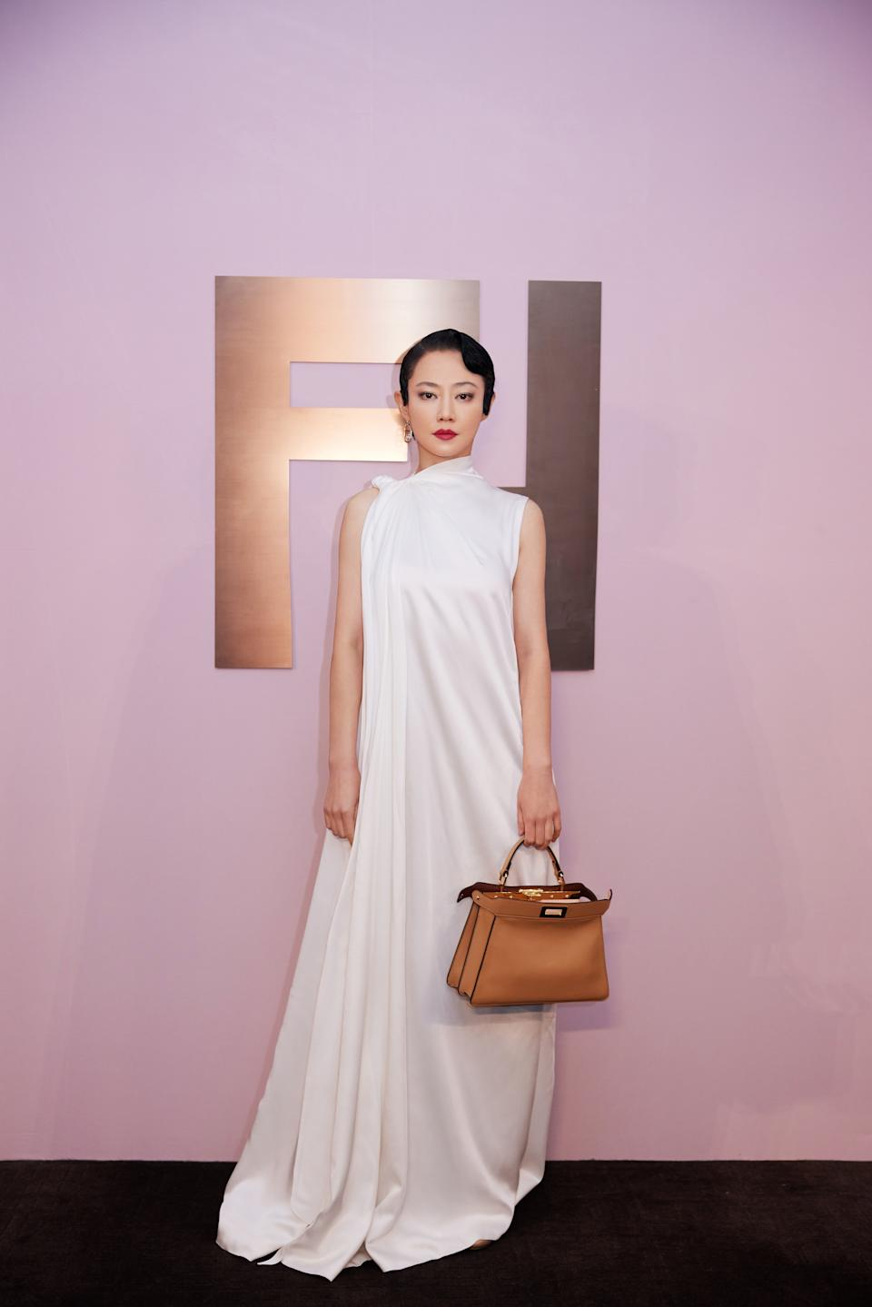 Actress Tan Zhuo at Fendi Shanghai show. (PHOTO: Fendi)
