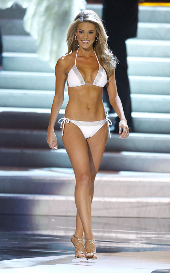 "<b>Carrie Prejean, Miss California USA 2009</b><br> During the Miss USA 2009 competition, Miss California USA caused a stir when she was asked about same-sex marriage by gossip blogger Perez Hilton, a judge that year, and she responded that she was against it. ""In my country, in my family, I think that, I believe that marriage should be between a man and a woman,"" stated Prejean, who later came in as first runner-up, which she believed was because of her beliefs. Although Hilton used his site to trash Prejean, the worst was yet to come. In May, topless modeling photos surfaced online, which she explained away, saying, ""I am a Christian, and I am a model. Models pose for pictures, including lingerie and swimwear photos."" Prejean also claimed they were the only photos … but then more scantily clad shots hit the web. On June 10, she was terminated as Miss California USA, citing breach of contract."