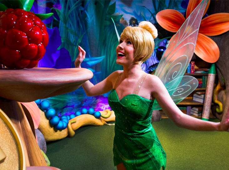 """<p>If you're one of the first visitors at Disneyland, head to Tinkerbell's Treasures shop in Fantasyland for a secret experience. You can ask a cast member to """"wake up Tink,"""" and they'll do a little ceremony complete with lights and sound effects. </p>"""