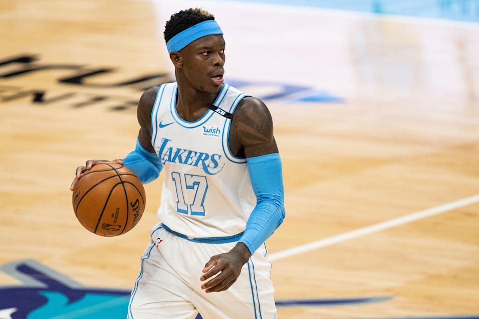 Dennis Schroder reportedly took a hefty pay cut to sign with the Boston Celtics. (Jacob Kupferman/Getty Images)