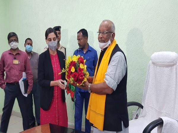 Deputy Chief Minister Tarkishore Prasad took charge of the Finance Ministry in Bihar on Tuesday. (Photo/Twitter)