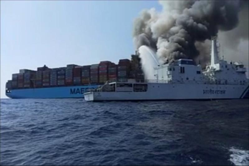 Fire on Maersk Ship in Arabian Sea: Hopes of Finding Missing Indian Sailor Fades