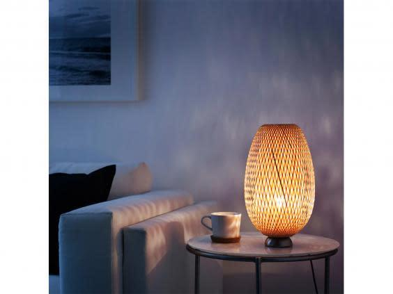 Light up a room, literally, with a modern bamboo table lamp (Ikea )