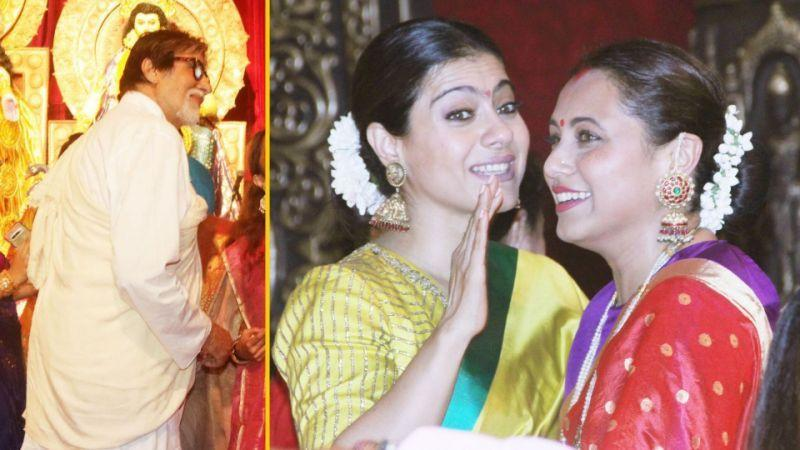Celebs spotted at Durga Puja