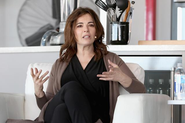 Nigella Lawson speaks during the Goya Foods Grand Tasting Village Featuring MasterCard Grand Tasting Tents & KitchenAid® Culinary Demonstrations 2016 Food Network & Cooking Channel (Photo by Alexander Tamargo/Getty Images)
