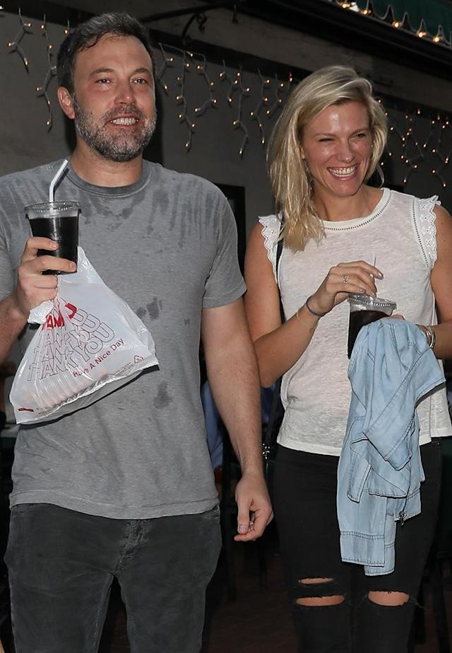 "<p>Ben Affleck and Lindsay Shookus aren't <a href=""https://www.yahoo.com/celebrity/jennifer-garner-confronted-lindsay-shookus-ben-affleck-relationship-sources-say-163343007.html"" data-ylk=""slk:letting the rumor mill get them down;outcm:mb_qualified_link;_E:mb_qualified_link"" class=""link rapid-noclick-resp newsroom-embed-article"">letting the rumor mill get them down</a>. Despite reports of infidelity during the start of their relationship in 2013, the two were positively beaming while having a pizza-filled date night. Jennifer Garner might want to look away. (Photo: NGRE /Backgrid) </p>"