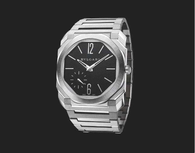 """<p>Bulgari Octo Finissimo Automatic Satin-Polished Steel (release date tba)</p><p>Bulgari's first release of 2020 is a new version of its Octo Finissimo Automatic, which debuted in 2017. Back then, it created quite a stir – at a scarcely-possible 2.23mm thick, it contained the world's thinnest self-winding movement. The paper-thin sports watch has previously been available in titanium, stainless steel and rose gold, all with a sandblasted finish. Now that family is joined by two new models – in steel with a bracelet, or 18ct rose gold with a strap – that feature a fancy satin-polished finish, and also play up the contrast between the black lacquered dial and the polished hands and indexes. </p><p>£10,000; <a href=""""https://www.bulgari.com/en-gb/"""" rel=""""nofollow noopener"""" target=""""_blank"""" data-ylk=""""slk:bulgari.com"""" class=""""link rapid-noclick-resp"""">bulgari.com</a></p>"""