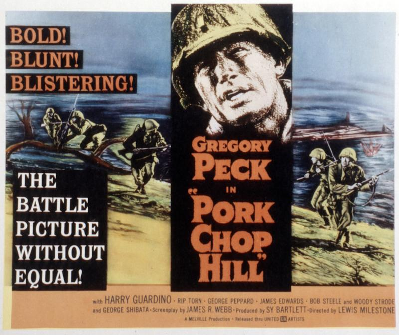 Pork Chop Hill, lobbycard, Gregory Peck, 1959. (Photo by LMPC via Getty Images)