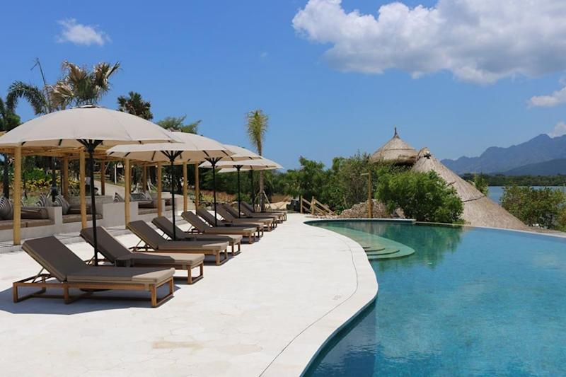 The Menjangan has an incredible infinity pool looking out over the bay and forests. Source: Deborah Dickson-Smith