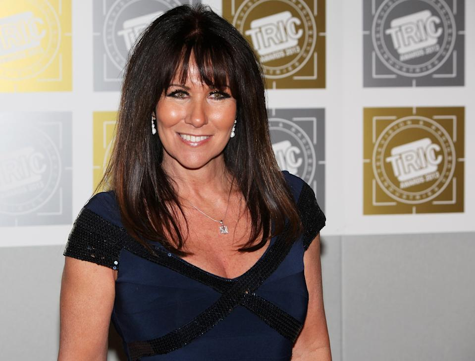 LONDON, ENGLAND - MARCH 12:  (EMBARGOED FOR PUBLICATION IN UK TABLOID NEWSPAPERS UNTIL 48 HOURS AFTER CREATE DATE AND TIME. MANDATORY CREDIT PHOTO BY DAVE M. BENETT/GETTY IMAGES REQUIRED)  Linda Lusardi arrives at the TRIC Television and Radio Industries Club Awards at The Grosvenor House Hotel on March 12, 2013 in London, England.  (Photo by Dave M. Benett/Getty Images)