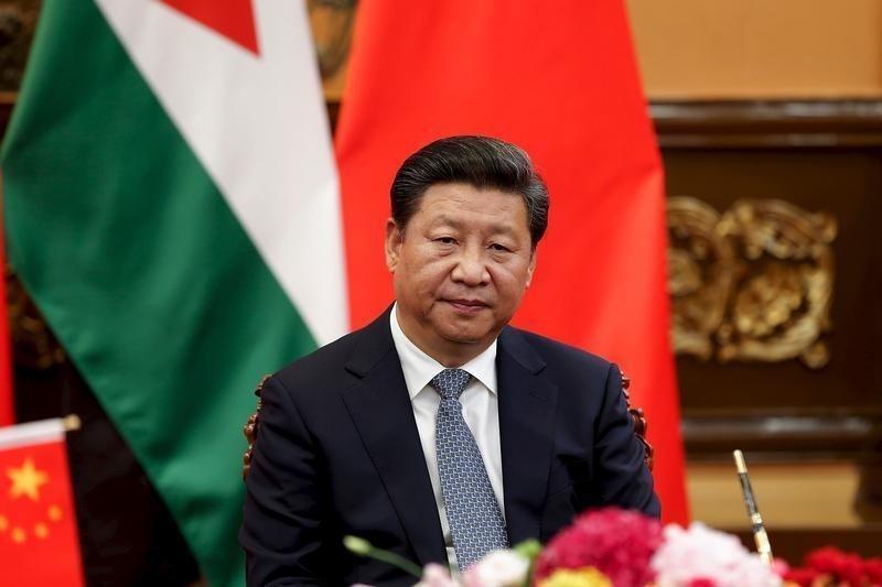 China's President Xi attends a signing ceremony with King of Jordan Abdullah II at The Great Hall Of The People in Beijing