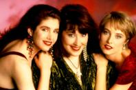 """<p>Gigi Hadid, Kendall Jenner, and Hayley Baldwin aren't the only squad of accomplished famous offspring. In 1990, Wilson Phillips, a vocal group consisting of Carnie Wilson, Wendy Wilson, and Chynna Phillips — the daughters of members of The Beach Boys and The Mamas & the Papas. Their debut album sold more than 10 million copies, and they were nominated for four Grammy Awards. They went their separate ways shortly afterwards, but in 2015, they contributed backup vocals to Rihanna's """"FourFiveSeconds,"""" which featured Kanye West and Paul McCartney. <i>(Source: Everett Collection)</i></p>"""