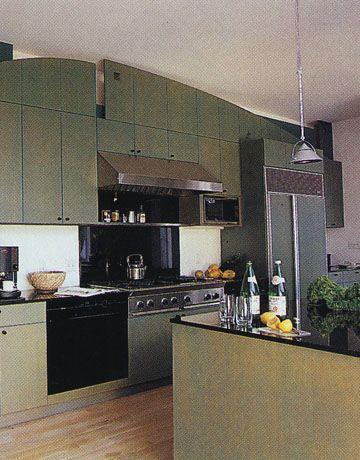 <p>Color was decidedly more subdued in the '90s, with sage and hunter greens walking that fine line between soothing and statement. It was a color that worked well with both black and stainless appliances. </p>
