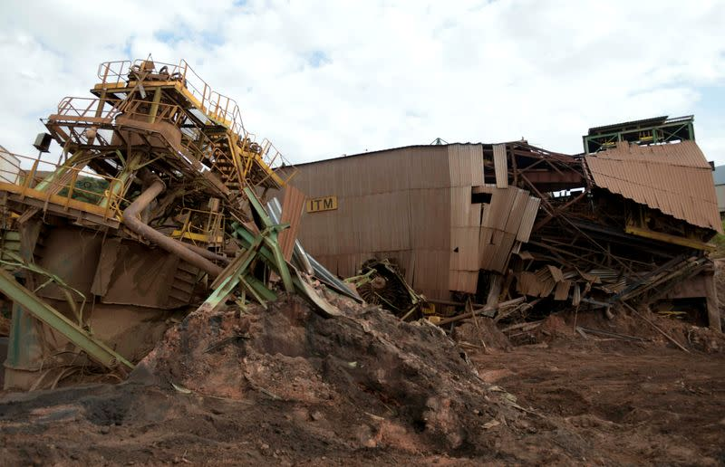 FILE PHOTO: A view of a collapsed tailings dam owned by Brazilian mining company Vale SA, in Brumadinho