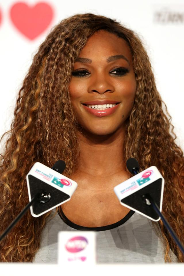 ISTANBUL, TURKEY - OCTOBER 21: Serena Williams of the United States fields questions from the media at the WTA All Access Hour before the start of the WTA Championships at the Renaissance Polat Hotel on October 21, 2013 in Istanbul, Turkey. (Photo by Matthew Stockman/Getty Images)