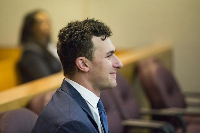 Johnny Manziel during a court appearance in May. (AP)