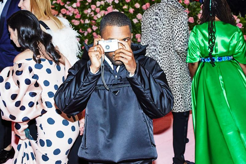 Frank Ocean on the red carpet at the Met Gala in New York City on Monday, May 6th, 2019. Photograph by Amy Lombard for W Magazine.