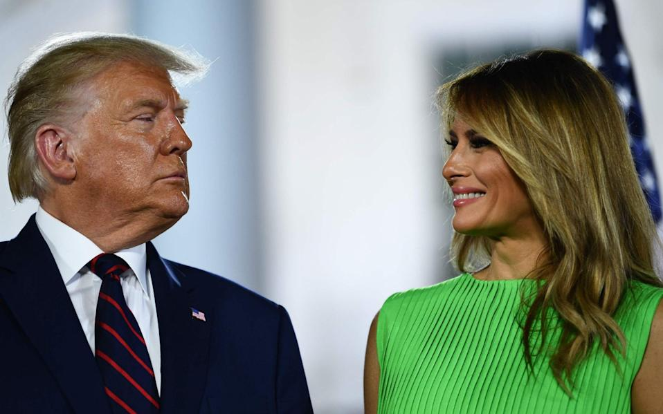 Donald Trump and US First Lady Melania Trump have not invited Joe Biden and his wife Jill for the traditional tea visit in the Oval Office - AFP