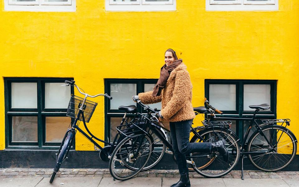 A cyclist in Copenhagen - Getty
