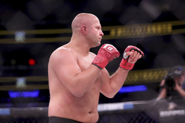 Fedor Emelianenko will be the latest stop on the Chael Sonnen Senior Tour he's been on since joining Bellator. (AP)