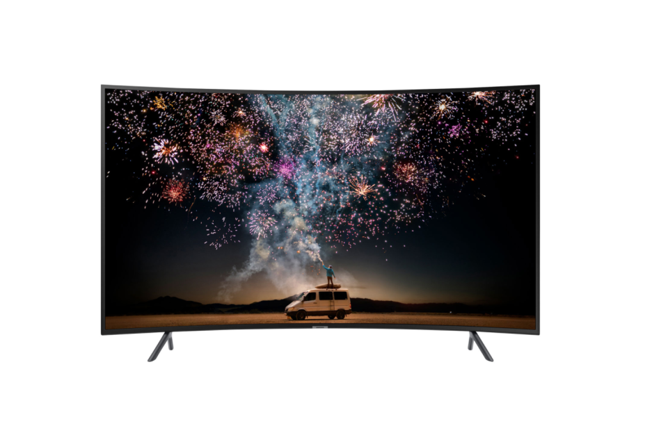 "Samsung 65"" 4K UHD HDR Curved LED Tizen Smart TV. Image via Best Buy."