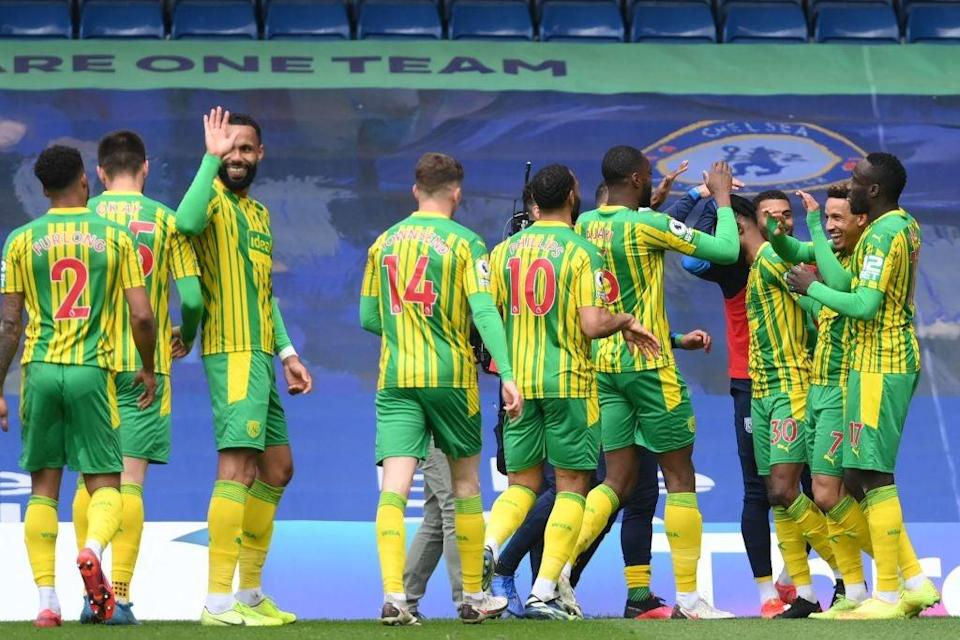 West Brom, despite their lowly league position, ran riot at ChelseaPOOL/AFP via Getty Images