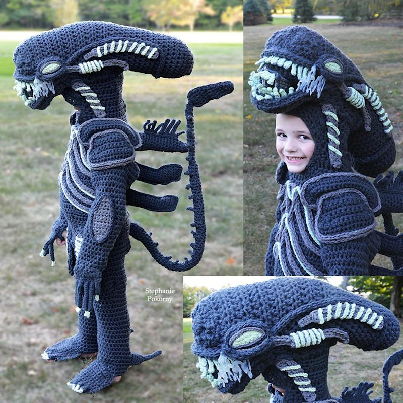 Ohio Mom Crochets Alien vs. Predator Halloween Costumes for Her Sons: 'They Loved It So Much'
