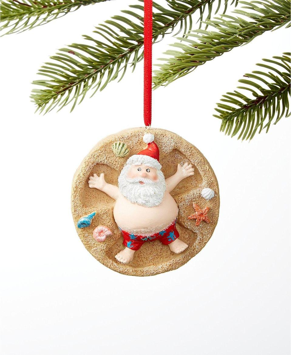 """<p><strong>Holiday Lane</strong></p><p>macys.com</p><p><strong>$10.00</strong></p><p><a href=""""https://go.redirectingat.com?id=74968X1596630&url=https%3A%2F%2Fwww.macys.com%2Fshop%2Fproduct%2Fholiday-lane-at-the-beach-santa-on-the-beach-ornament-created-for-macys%3FID%3D9166817&sref=https%3A%2F%2Fwww.housebeautiful.com%2Fentertaining%2Fholidays-celebrations%2Fg23342632%2Fweird-christmas-ornaments%2F"""" rel=""""nofollow noopener"""" target=""""_blank"""" data-ylk=""""slk:Shop Now"""" class=""""link rapid-noclick-resp"""">Shop Now</a></p>"""