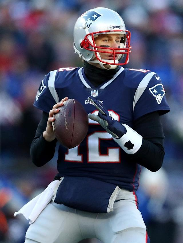 New England Patriots quarterback Tom Brady makes a pass against the Los Angeles Chargers at Gillette Stadium on January 13, 2019 in Foxborough, Massachusetts (AFP Photo/Maddie Meyer)