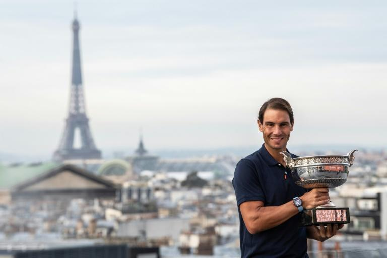 Champion again: Rafael Nadal with the trophy after winning the 2020 French Open