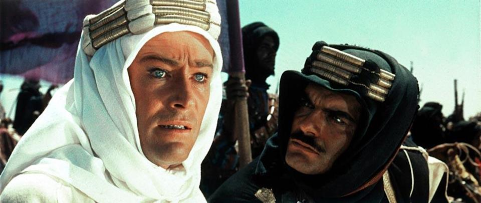 """<a href=""""http://movies.yahoo.com/movie/lawrence-of-arabia/"""" data-ylk=""""slk:LAWRENCE OF ARABIA"""" class=""""link rapid-noclick-resp"""">LAWRENCE OF ARABIA</a> (1962) <br>Directed by: <span>David Lean</span> <br>Starring: <span>Peter O Toole</span>, <span>Alec Guinness</span> and <span>Anthony Quinn</span>"""
