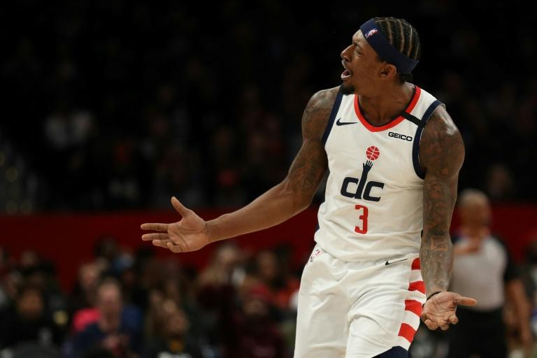 Bradley Beal's 55 points weren't enough as his Washington Wizards fell in overtime to the Milwaukee Bucks (AFP Photo/Patrick Smith)