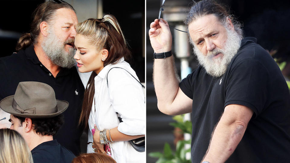 Russell Crowe, pictured here in Sydney with some A-List pals.