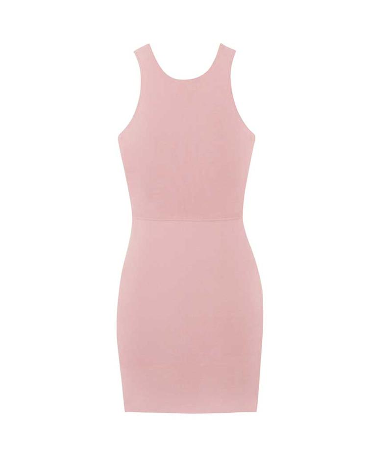 Pink scoop neck dress. (Photo: Elizabeth and James/The Outnet)
