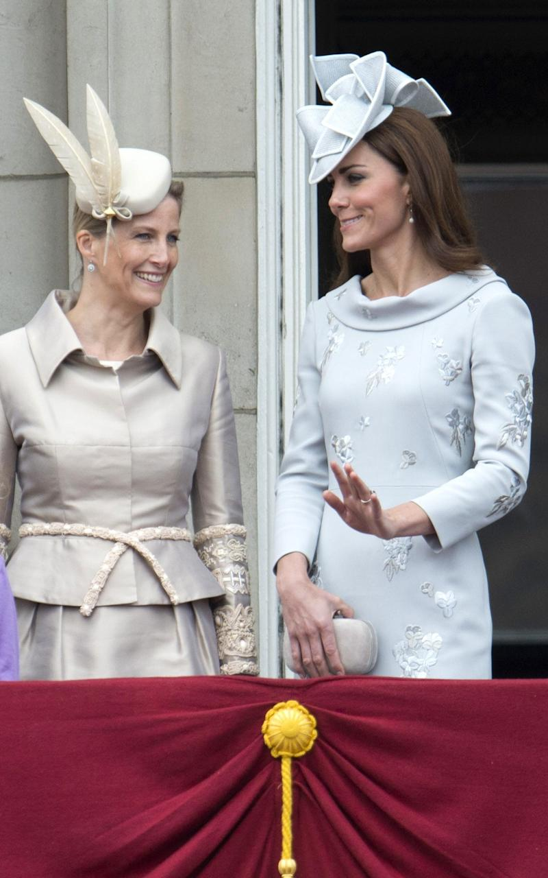 Kate at Trooping the Colour in 2012 - Credit: Rex