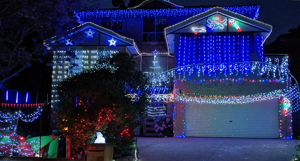 One of the lit-up homes at Richards Close. Source: Supplied/Paul Newman