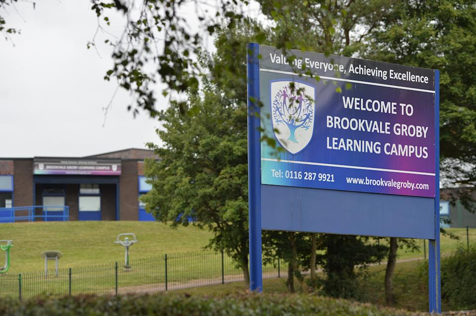 A 12-year-old girl has been placed in isolation at school for wearing the wrong type of skirt - with her mum saying her hips are too wide for the one she needs.  Shylah Johnson has been taken out of classes at Brookvale Groby Learning Campus in Groby, Leicestershire, after her mum, Daisy Johnson, spent the summer trying to find her a pleated skirt that would fit.  Caption: Brookvale Groby Learning Campus in Groby, Leicestershire