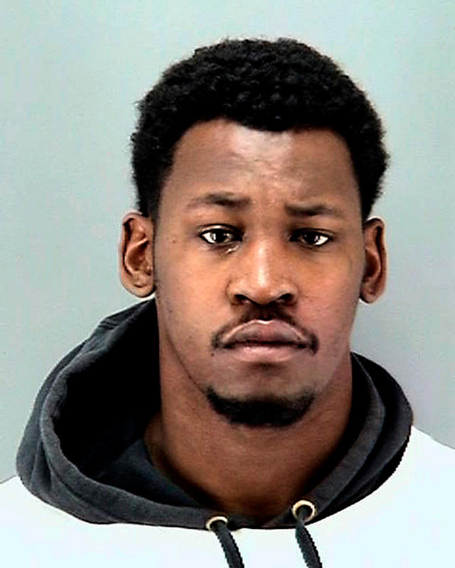 A March 6 booking photo of former 49ers and Raiders linebacker Aldon Smith. (AP)