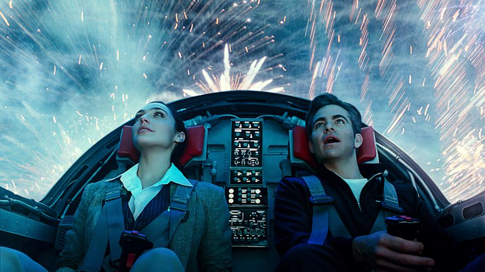"""Diana (Gal Gadot) reconnects with Steve Trevor (Chris Pine) in """"Wonder Woman 1984."""""""