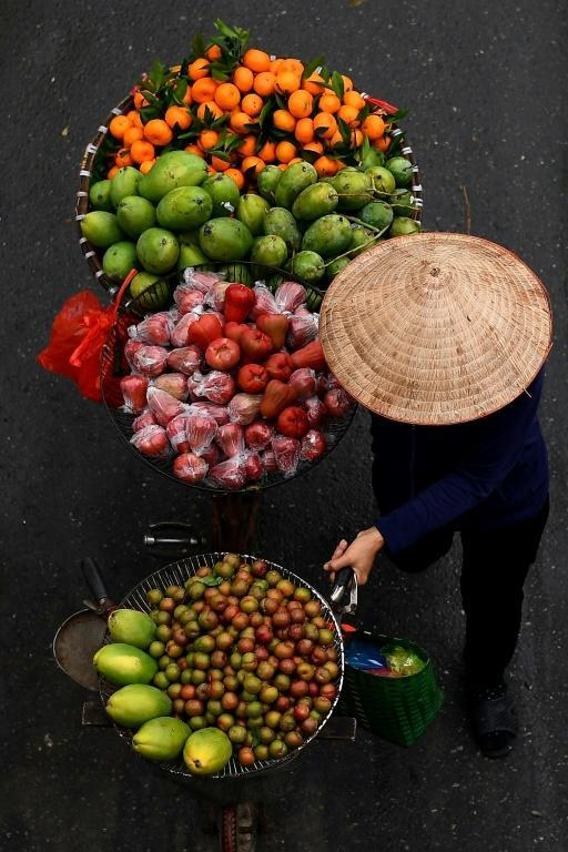 Vendors were not allowed to peddle their wares for a short period after the virus first hit Vietnam