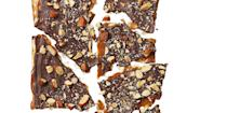 """<p>Matzo has never tasted better than with caramel, dark chocolate, and salted roasted almonds. </p><p><em><a href=""""https://www.goodhousekeeping.com/food-recipes/a37546/choco-caramel-matzo-brittle-recipe/"""" rel=""""nofollow noopener"""" target=""""_blank"""" data-ylk=""""slk:Get the recipe for Choco-Caramel Matzo Brittle »"""" class=""""link rapid-noclick-resp"""">Get the recipe for Choco-Caramel Matzo Brittle »</a></em><em><br></em></p><p><strong>RELATED: </strong><a href=""""https://www.goodhousekeeping.com/food-recipes/easy/g3454/matzo-recipes-for-passover/"""" rel=""""nofollow noopener"""" target=""""_blank"""" data-ylk=""""slk:20 Creative Ways to Eat Matzo During Passover"""" class=""""link rapid-noclick-resp"""">20 Creative Ways to Eat Matzo During Passover</a><br></p>"""