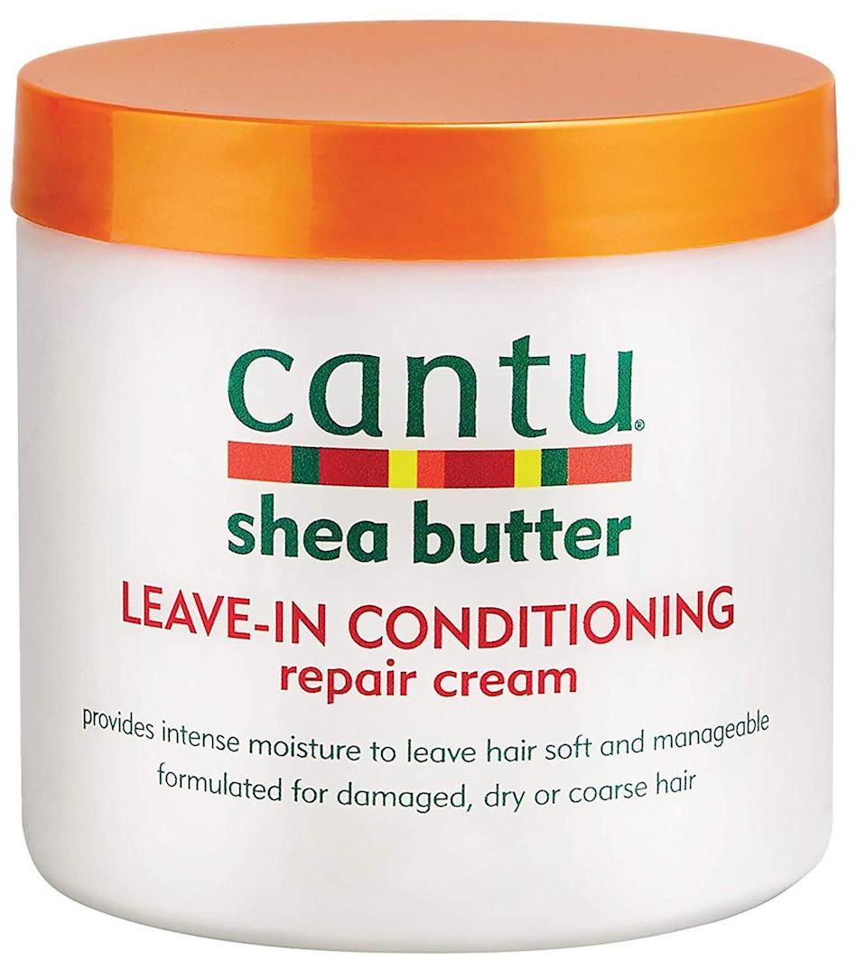 "<h3><strong>Cantu</strong> Leave-In Conditioning Repair Cream</h3> <br><strong>Best For Colored Hair</strong><br><br>Leave it to argan oil to nourish and replenish curls even on your worst day. Safe for colored, relaxed, and textured hair, this repair cream penetrates deep to soften strands — without a ton of fuss. Our <a href=""https://www.refinery29.com/en-us/curly-hair-products"" rel=""nofollow noopener"" target=""_blank"" data-ylk=""slk:editors swear by it"" class=""link rapid-noclick-resp"">editors swear by it</a>.<br><br><strong>Cantu</strong> Shea Butter Leave-In Conditioning Repair Cream, $, available at <a href=""https://amzn.to/2OPqjZD"" rel=""nofollow noopener"" target=""_blank"" data-ylk=""slk:Amazon"" class=""link rapid-noclick-resp"">Amazon</a><br><br><br>"