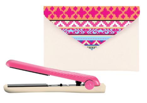 """<p>Here's the perfect on-the-go straightener for mornings when you need to tame flyaways or touch up your curls in a flash. It's small enough to fit in your backpack and it comes in a trendy case.</p><p><b><a href=""""http://www.gilt.com/brand/amika/product/1101817032-amika-ceramic-mighty-mini-styler-in-neon-and-nude-tribal"""">Amika Ceramic Mighty Mini Styler in Neon and Nude Triba</a>l(sale price $29, original price $40) </b><i>(Photo: Amika)</i></p>"""